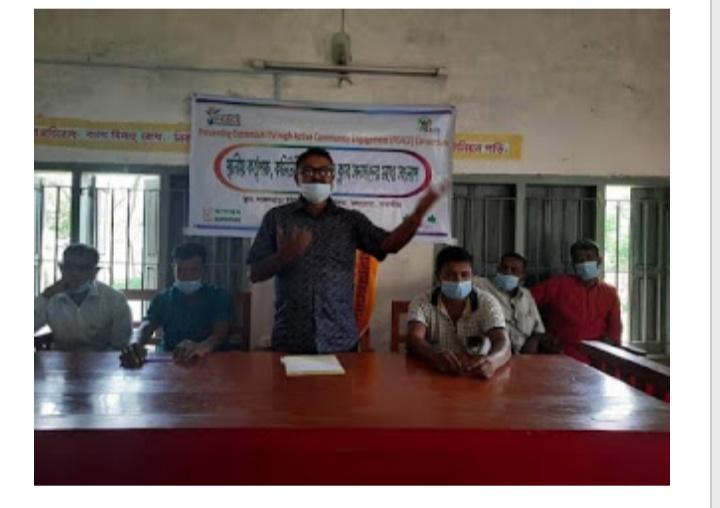 কলারোয়ার লাঙ্গলঝাড়ায় পিস ক্লাবের সদস্যদের মধ্যে সংলাপ অনুষ্ঠিত