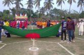 কলারোয়ার চন্দনপুরে মুজিব শতবর্ষ ফুটবল টুর্নামেন্টে কায়বা ফুটবল একাদশ সেমিফাইনালে