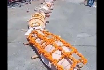 শ্মশানে  ফুরিয়েছে কাঠ, লাশের সারি নিয়ে উদ্বেগ